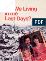 Are We Living in the Last Days By Herbert W Armstrong