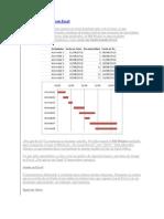 Diagramas de Gantt Con Excel