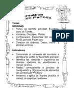 Temas - indicadores periodo 2 Primero Informática BLOG