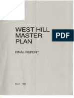 West Hill Master Plan, Ithaca, New York, March 1992