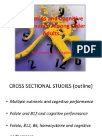 B Vitamins and Cognitive Performance Among Older Adults