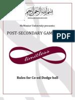 Dodgeball Rules PSG 2013