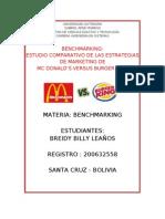 Benchamarking McDonalds vs burger king.doc