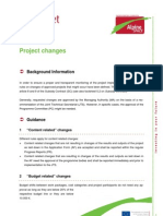 Factsheet 6.9 Project Changes
