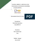 Reconocimiento General y de Actores - Cultura Politica