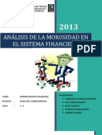 ANÁLISIS DE LA MOROSIDAD EN EL SISTEMA FINANCIERO PERUANO