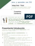 EyAT - 1c2013 - Guía para el trabajo final