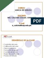 Presentacion - Mecanica Suelos i - Huancayo
