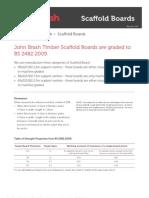 JB Scaffold Boards Technical Specification