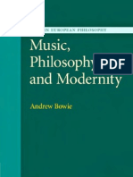 Bowie - Music, Philosophy, And Modernity (Cambridge, 2007)