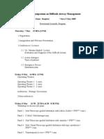 I Symposium on Difficult Airway Management