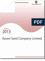 Diversification of Business Activities Acting as a Key Growth Driver for Kaveri Seed Company Limited