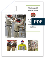 Project on Image of Punjab Police in Society and Their Role