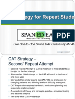 CAT Preparation Strategy for Repeaters