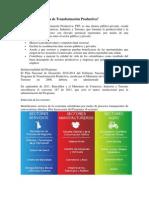 Qué es el Programa de Transformación Productiva (1)
