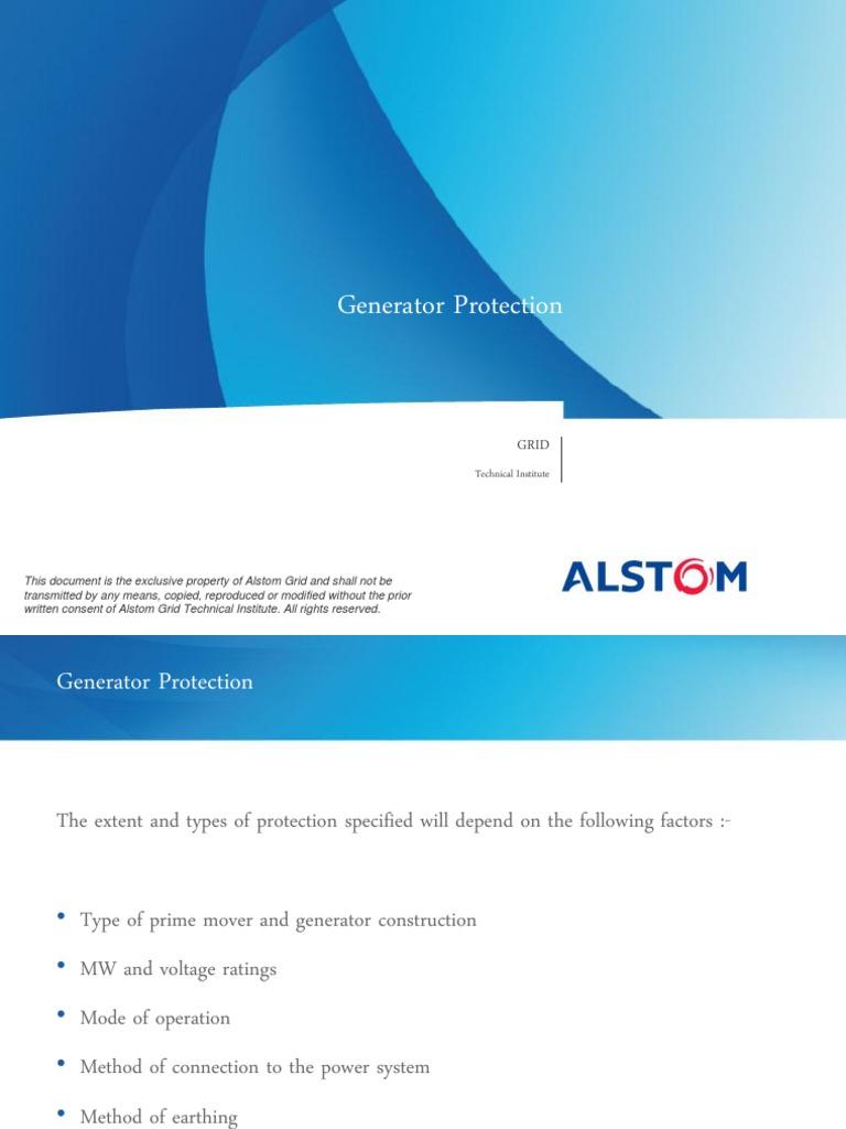 Generator Protn | Electric Generator | Electric Power System