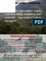 Ekologi dasar, Kuliah 2. Asas Dan Konsep Ekosistem