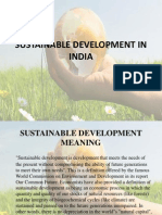 Sustainable Development in India