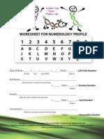 Numerology Worksheet