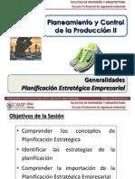 Sem 1.1 - PCP II - USMP - Planificación Estratégica Empresarial