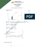 II sem (csvtu) Mathematics Unit 3 (Multiple Integral )Solustions