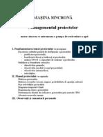Masina Sincrona - Managementul Proiectelor