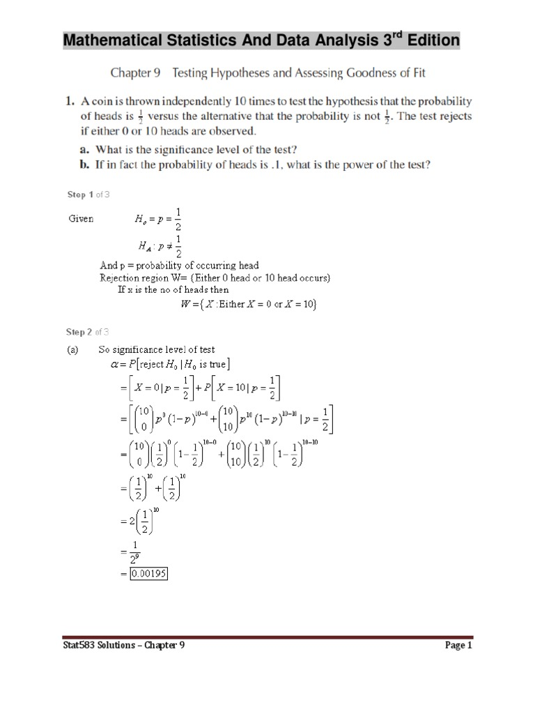 Mathematical Statistics And Data Analysis 3rd Edition - Chapter9 Solutions .pdf