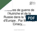 Théâtres de guerre de l'Autriche et de la Russie dans la Turquie