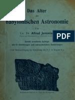 Jeremias_Das Alter Der Babylonischen Astronomie