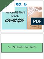 Talk 5 Christian Ideal