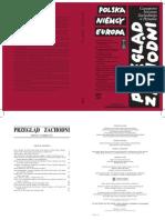Przegląd Zachodni - Numer specjalny 2012 - spis treści