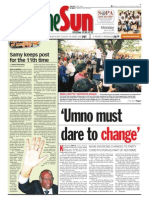 TheSun 2009-03-23 Page01 UMNO Must Dare to Change