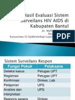 Hasil Evaluasi Sistem Surveilans HIV AIDS Di Kabupaten Bantul