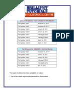 CATLYST2012 Test Dates