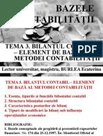 Tema 3 Bilantul Contabil Element de Baza Al Metodei Contabilitatii