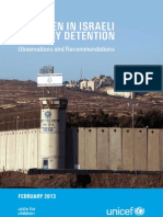 unicef opt children in israeli military detention observations and recommendations - 6 march 2013