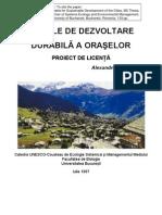 Modele de Dezvoltare durabila a oraselor