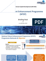 National Talent Enhancement Programme (NTEP) Briefing Pack v3 May2012
