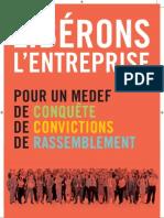 Programme Pierre Gattaz MEDEF