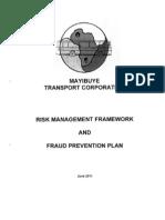 MTC Risk Management Framework and Fraud Prevention Plan_Sept2011_v1