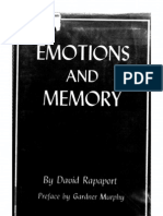 David Rapaport--Emotions and Memory (1)