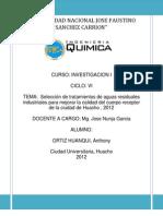 Selección de tratamientos de aguas industriales residuales