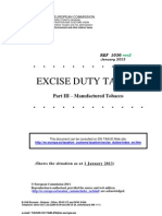 Excise Duties-part III Tobacco Env