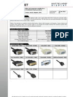 Cables and Connectors Specification Rev01.Indd - Ds Cables and Connectors Specfications