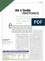 [MWRF0309] Assemble a Tunable L-Band Preselector