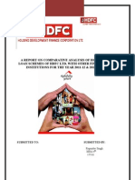 project report on HDFC LTD home loan schemes