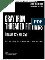Asme b16.4-1998 - Gray Iron Threaded Fiitings - 125 - 250