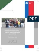 Control Joven Sano 2012 MINSAL (Chile)