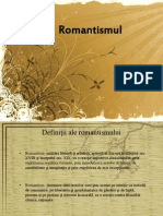 Romantismul in Literatura Universala