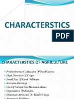 CHARACTERISTICS OF AGRICULTURE